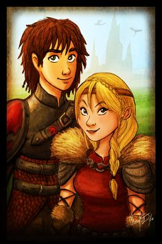 Hiccup and Astrid by Merina-Sky.deviantart.com on @deviantART