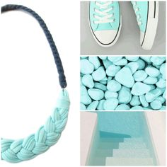 Aqua fabric necklace  check out other colors in my shop ~ gicreazioni.etsy.com  #inspiredbycolor #moodboard #aquamarine #inspiration #handmade #fabric #necklace #etsy http://etsy.me/2ac9nIO