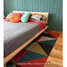 Astrid Midcentury Modern Platform Bed in Maple