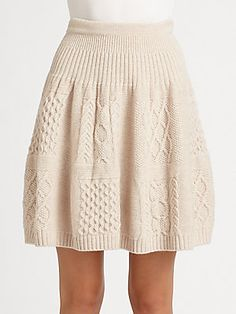 Marc by Marc Jacobs Glenda Cable-Knit Skirt