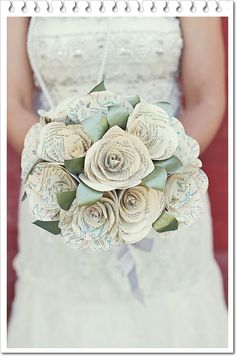 paper flowers bouquet For more lovely wedding inspo follow Mary Buffington Photography on Pinterest!