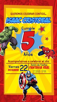 SpiderMan Wolverine Goblin Birthday Party Invitations 10 pieces Kids New