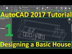 Beginner Tutorial 1 (AutoCAD - Designing a Basic House Autocad 2016, Learn Autocad, 2017 Design, Tutorial, Education, Watch, Learning, House Building