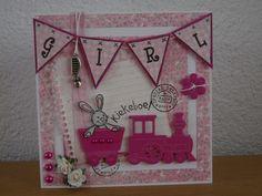 Gemaakt door Joke # baby treintje roze