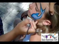 Dolphin Face Painting Design Tutorial Using a Split Cake