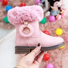 Cizme copii Enzio roz Olivia Black, Flocking, Ugg Boots, Ballerina, Uggs, Winter, Casual, Model, Shoes