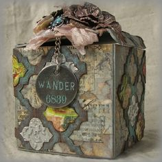 Jenny Maples as Pushing the Right Buttons - Tim Holtz Inspired Artist Trading Blocks; Apr 2014