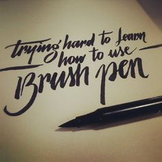 How to use a brush pen … #dailycalligraphy #typography #calligraphy, via Flickr.