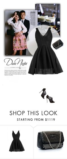 """""""Date Night"""" by firstboutique ❤ liked on Polyvore featuring Philipp Plein and black"""