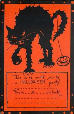 Halloween cards from the 20's