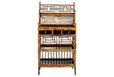 One Kings Lane - Antique Chinese Bamboo & Pine Shelf