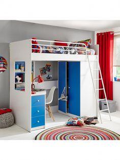 53 Ideas Bedroom Wardrobe Ideas Space Saving Shelves For 2019 Small Room Bedroom, Trendy Bedroom, Kids Bedroom, Bed With Wardrobe, Bedroom Wardrobe, High Sleeper With Wardrobe, Wardrobe Ideas, Desk With Drawers, Small Drawers