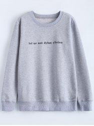 Streetwear Jewel Neck Graphic Sweatshirt