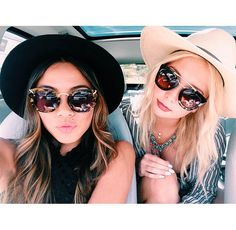 Two things for the summer: Floppy hats and big sunglasses