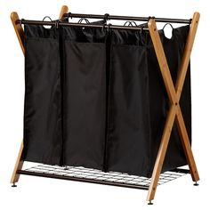 Found it at Wayfair - Bamboo 3 Bag Laundry Sorter