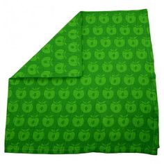Cloth, green with apples, Smafolk