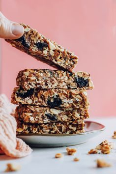 Healthy Bars, Healthy Sweets, Healthy Snacks, Baker Recipes, Snack Recipes, Delicious Vegan Recipes, Vegetarian Recipes, Healthy Recipes, Granola Bars