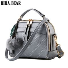 42eed5a103e5 DIDA BEAR 2017 New women messenger bags lady cute handbags Girls shoulder  bag bolsas Gray Pink Black Blue Beige Sac A Epaule