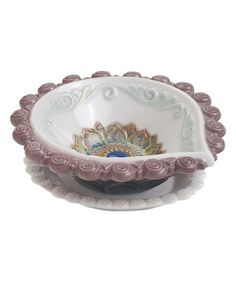 Look what I found on #zulily! Round Diya Porcelain Dish #zulilyfinds