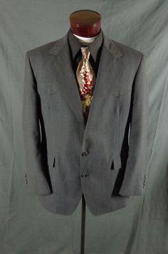 Vintage Warren Sewell Bucksworth Gray Rockabilly Western Blazer – Size 46-VLV #WarrenSewell #Doyoureallyneedone