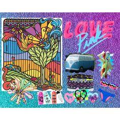 """Peace & Love Road Trip <3"" by littleslonecker on Polyvore    #edm  #plur  #springbreak  #victoriassecret  #PINK  #contests  #victoriassecretpink  #kandi  #beauty  #sunshine  #bikini  #peace  #love"