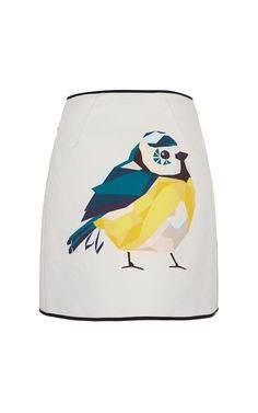 Sparrow Print Cotton Wrap Skirt by MSGM for Preorder on Moda Operandi