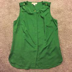 Michael Kors blouse Green Michael Kors button up blouse Michael Kors Tops Blouses
