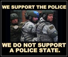 "...Support them as long as they are doing their ""real"" job. To serve and protect the people of these United States."
