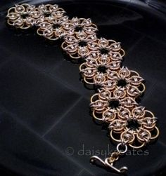 Celtic Rose Bracelet - love this look and the last rose doubles for the clasp!