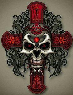 Skulls: #Skull cross.