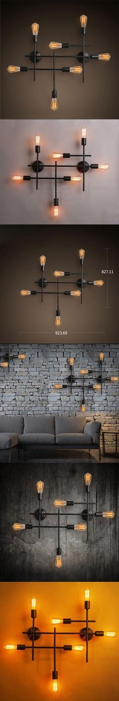 Retro Industrial Loft Large Edison Wall Sconce Lamp Vintage American Country Hotel Hall Bar Kitchen Home Decor Lighting Fixture
