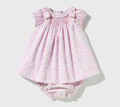 Vestido y braguita - Dulces Smocking Baby, Kids Fashion, Womens Fashion, Moda Online, Future Baby, Girls Dresses, Baby Dresses, Boho Shorts, Body