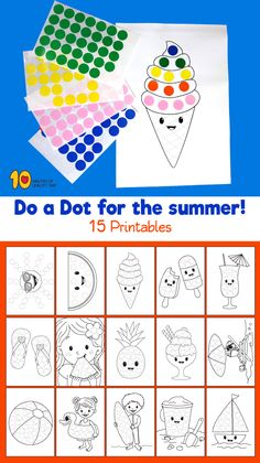 Do a Dot for the summer #doadot#preschoolers