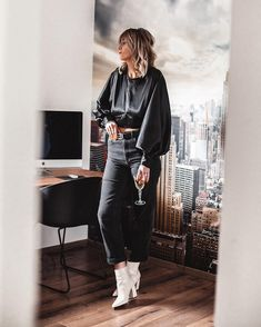 One of my major weaknesses when shopping is open back tops. An exposed back or some exposed shoulders is one of the sexiest ways to. Backless Top, Total Black, Cut Out Design, Satin Top, White Boots, Boss Lady, Affordable Fashion, Street Style Women, My Wardrobe