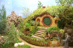 I'm sure that a die hard Middle Earth fan had too much time on their hands. Still, I'm sure this miniature Bag End is tended by no other than a miniature Samwise Gamgee.