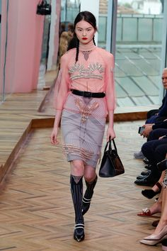 Prada cruise: pink, layers and ultra-feminine styling – in pictures