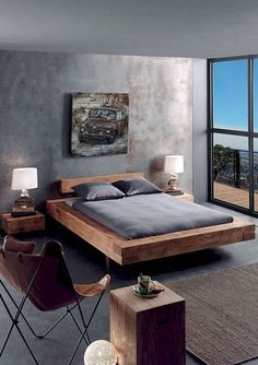 The impact of bedroom furniture will make you have a good night's sleep. Let's face it, and a modern bedroom furniture design can easily make it happen. Bed Frame Design, Bedroom Bed Design, Modern Bedroom Design, Home Decor Bedroom, Bedroom Ideas, Contemporary Bedroom, Gray Bedroom, Bedroom Designs, Diy Bed Frame