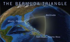 Missing Ships and Planes? Does the Bermuda Triangle really have strange powers ? The Bermuda Triangle is a region in the western part of the North Atlantic Ocean in which ships, planes, and people are alleged to have mysteriously vanished Porto Rico, Southampton, Mysterious Places On Earth, Mysterious Things, Scary Things, Le Triangle, Bermuda Triangle Facts, Acute Triangle, Sunken City