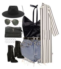 """""""Sin título #1244"""" by osnapitzvic ❤ liked on Polyvore featuring ASOS, Levi's, Kendall + Kylie, River Island, Monki, Michael Kors, Yves Saint Laurent, Ray-Ban and rag & bone"""