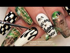 Juicy's Birthday Nails Neon Nail Art, Neon Nails, Paint Designs, Nail Art Designs, Robin Moses, Diva Nails, Nail Art Videos, Birthday Nails, Body Piercings