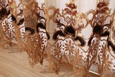 Source European style living room curtain, luxury embroidery curtains fabric with valance on m.alibaba.com