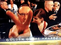 Kevin Spacey was all for peace.   The 22 Most Important Things That Happened At The Golden Globes