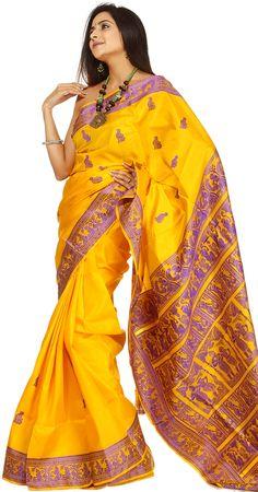 Baluchari Sarees now available on www.buddhaandbeyond.com