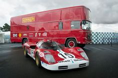 Race Car Transporters  Ferrari 512S and Ferrari Car Hauler.
