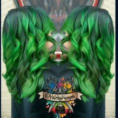 Enchanted green with envy hair #manicpanic #enchantedforest #electriclizard #greenenvy #mermadians #greenhairdontcare #silky #mermadians #btcpics #behindthechair #modernsalon #beautylaunchpad