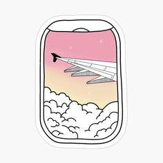 'aesthetic plane window' Glossy Sticker by jennagardnerr Preppy Stickers, Cute Laptop Stickers, Cool Stickers, Window Stickers, Printable Stickers, Red Bubble Stickers, Kawaii Stickers, Homemade Stickers, Journal Stickers