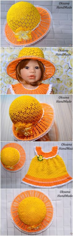 Crochet Hat And Dress Step By Step