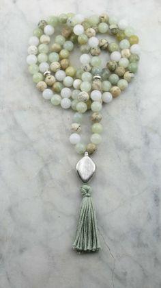 Ayurvedic_Water_Mala_108_Aquamarine_Opal_Mala_Beads_Buddhist_Prayer_Beads_Pitta $90.00