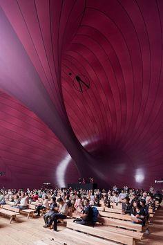 Inflatable concert hall by Anish Kapoor and Arata Isozaki in Matsushima, Japan