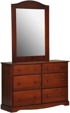 Attractive Bronx Mahogany Solid Wood Glass Dresser U0026 Mirror   By Palace Imports